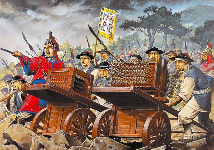 Artists Depiction of an Early Korean Rocket Launcher (Pinterest)
