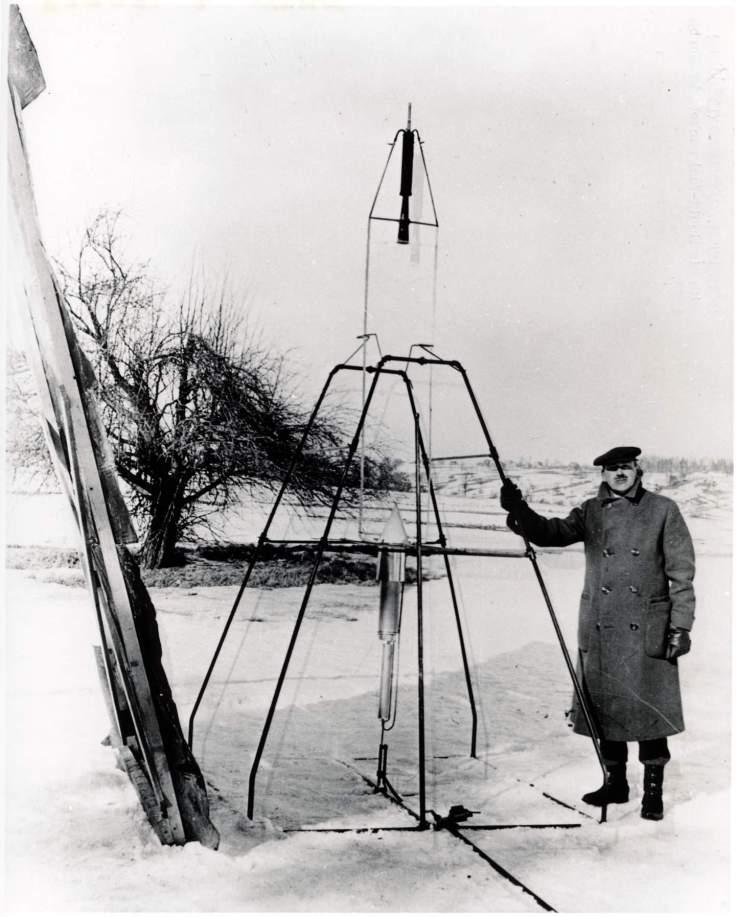 Goodard and Rocket (Smithsonian)